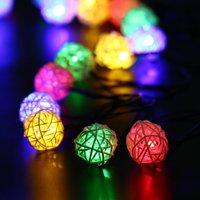 Solar string lights walmart christmas string lights outdoorindoor solar christmas lights rattan ball decorative lighting for home aloadofball Gallery