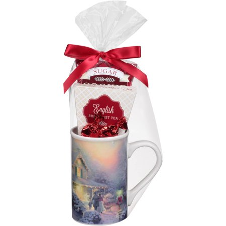 Thomas Kinkade Tea Mug Holiday Gift Set 4 Pc