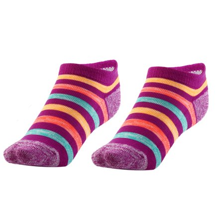 Boy Badminton Elastic Quarter Stockings Cushioned Sport Ankle Socks Purple Pair