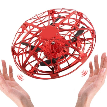 mini induction aircraft ufo flying ball toy 2019 Improved Toy with Infrared Sensor Auto-Avoid Obstacles 360°Rotating LED Light, Rechargeable Mini Quadcopter Hand Operated Drones for Boys or