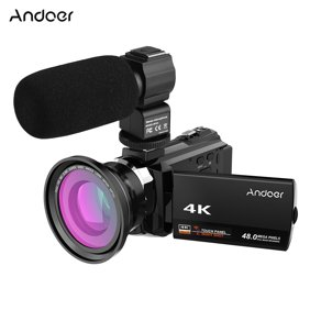 4k Video Camera Camcorder Rraycom 48mp Ultra Hd Wifi Camcorders 3 Inch Touch Screen Night Vision 16x Digital Zoom Portable Digital Video Camera Recorder With External Microphone And Wide Angle Lens Walmart Com