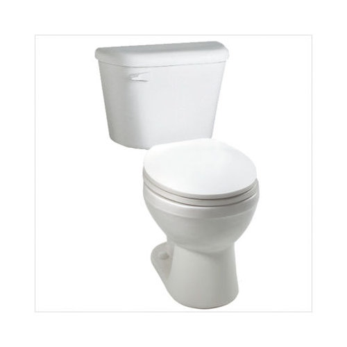 Bundle-03 CraneFaucet Galaxy/Cranada Elongated Two Piece Toilet in White (12 Pieces)