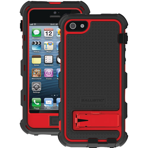 BALLISTIC HC0956-M355 iPhone(R) 5 Hard Core Series Case (Black/Red)