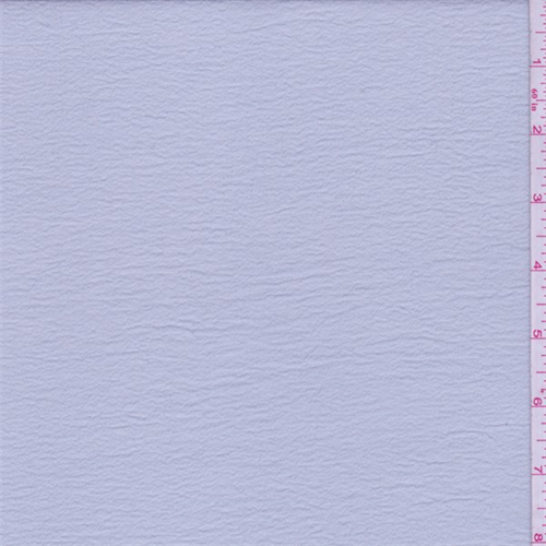 Haze Blue Crinkled Crepe de Chine, Fabric By the Yard