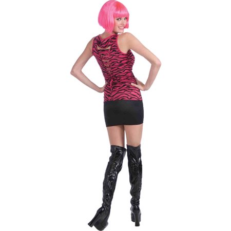 Top 80s Halloween Costumes (80s Pink Zebra Shirt Adult Halloween Costume - One Size)