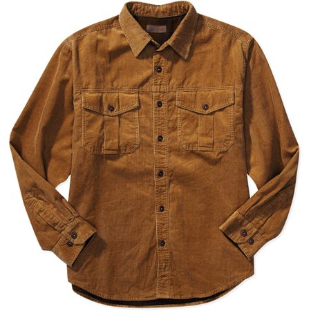 Faded glory big men 39 s flannel lined corduroy shirt for Fleece lined flannel shirt