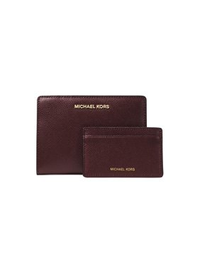 9ad11731bb41 Product Image Michael Kors Medium Card Case Carryall Leather Money Pieces  in Oxblood Multi