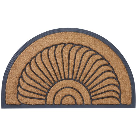 Envelor Home and Garden Arc du Soleil Outdoor Doormat Welcome Mat Outdoor Rugs Non Slip Front Door Mats Coir Doormat Shoes Scraper Outdoor Entryway Rug Patio Porch 18 x 30 Inches ()