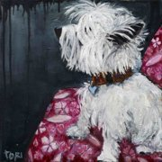 """Marmont Hill """"Dash In The Front"""" by Tori Campisi Painting Print on Canvas"""