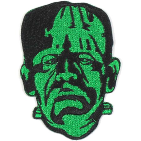 Frankenstein Men's Frank Head Embroidered Patch Green](Frankenstein Head Piece)