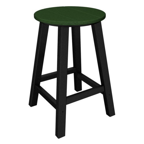 POLYWOOD® Contempo 24 in. Round Bar Stool