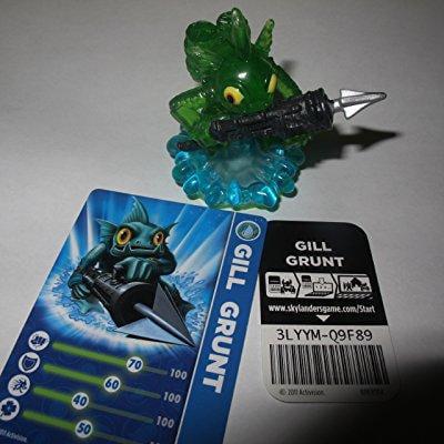 exclusive skylanders spyro's adventure gill grunt variant translucent green](Skylander Girl)