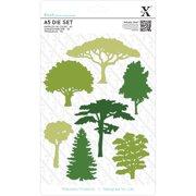 Xcut A5 Dies 7/Pkg-Woodland Trees