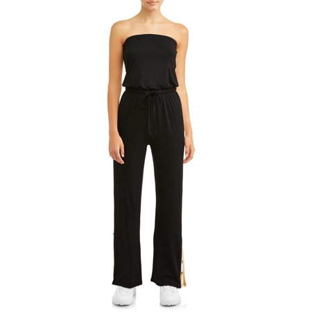 Juniors' Strapless Yummy Jumpsuit with Snap -