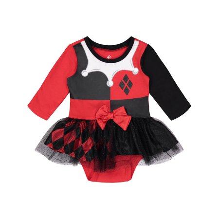 Warner Bros. Harley Quinn Infant Baby Girls' Costume Bodysuit Dress, 18 Months](Harley Quinn Onesie)