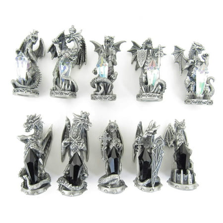 Dragons of Light versus Dragons of Darkness Chess Set Tudor (Light And Darkness Dragon Deck)