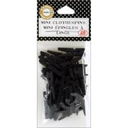 """Mini Clothespins 1"""" 25/Pkg-Black"""