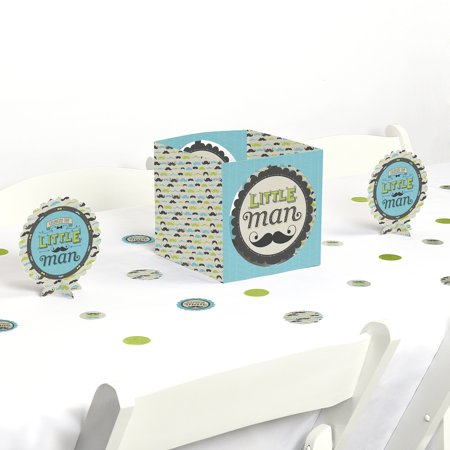 Dashing Little Man Mustache - Party Centerpiece & Table Decoration - Mustache Decoration