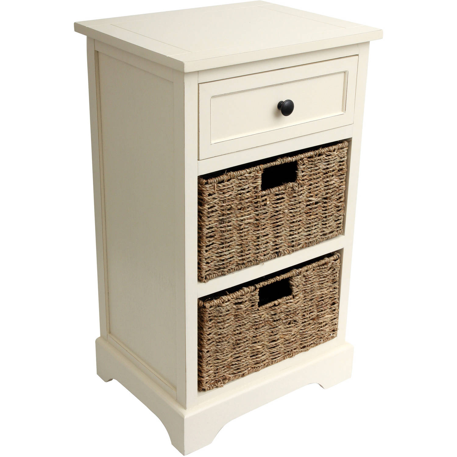 walmart kitchen furniture 2 basket storage chest with drawer 15398