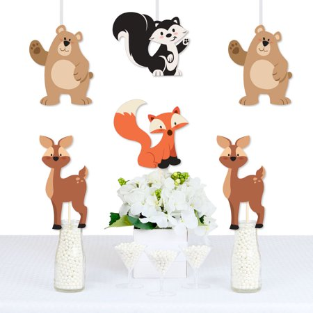 Stay Wild - Forest Animals - Bear, Deer, Skunk and Fox Decorations DIY Woodland Baby Shower or Birthday Party Essentials