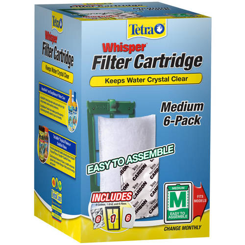 Tetra Whisper Medium Filter Cartridges, 6-Pack
