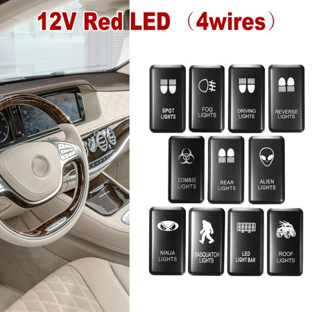 LED Push on Switch ON OFF w/ Harness 12V Red For Landcruiser ... Sasquatch Light Switch Wiring Diagram Fog on fog light installation diagram, fog light switch toyota, fog lights for bmw 1997, fog light wiring problem, fog light headlight switch wiring, fog light wiring harness,