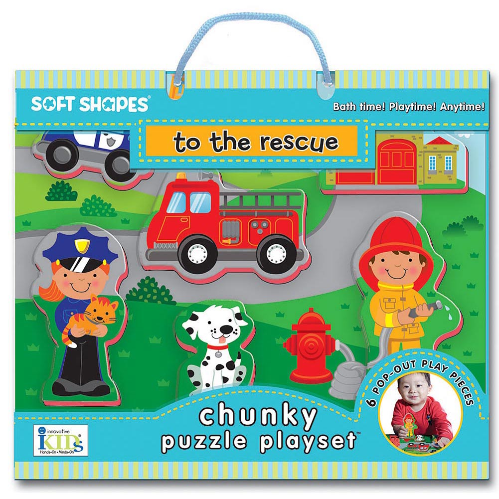 To The Rescue 8 Piece Foam Puzzle,  Kids Puzzles by Innovative Kids