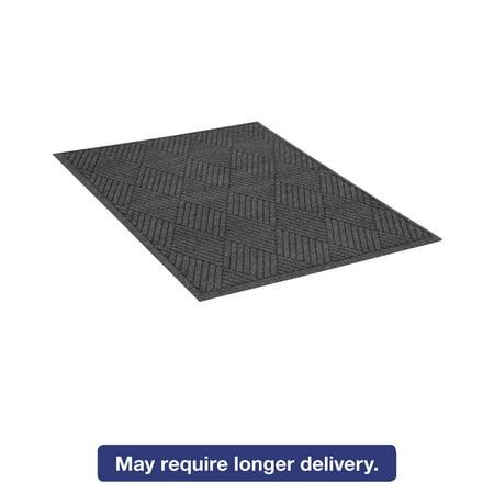 Rectangular Floor Guard (Guardian EcoGuard Diamond Floor Mat, Rectangular, 36 x 60 Charcoal)
