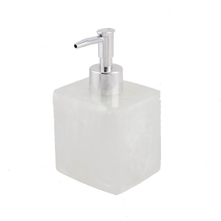 Bathroom resin shampoo lotion pump bottle dispenser for Clear bathroom containers