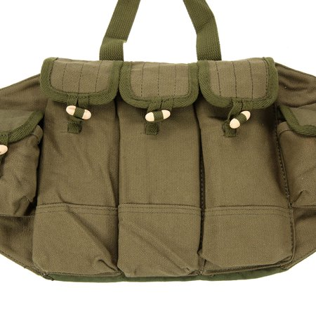 Outdoor Canvas Vest Ammo Chest Rig Magazine Carrier Combat Vest Army Hunting Pouches