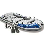 Best Aluminum Fishing Boats - Intex 68325EP Excursion Inflatable 5 Person Heavy Duty Review