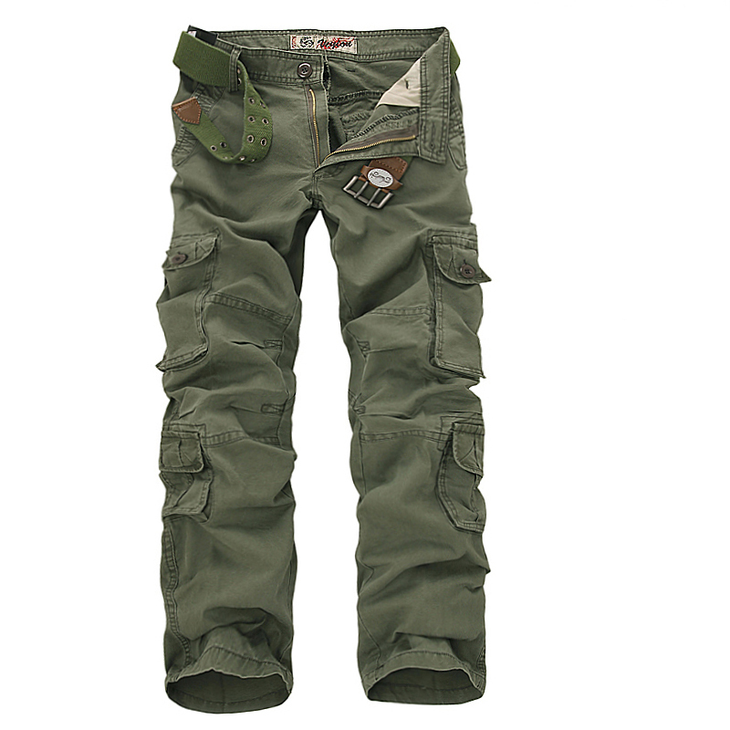 Charmkpr Fashion Men Army Cargo Combat Work Pants Cotton Casual Military Trousers