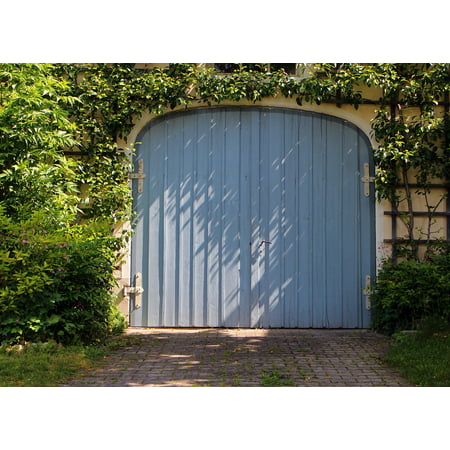 Canvas Print Door Wood Garage Hinged Door Goal Garage Door Stretched Canvas 10 x