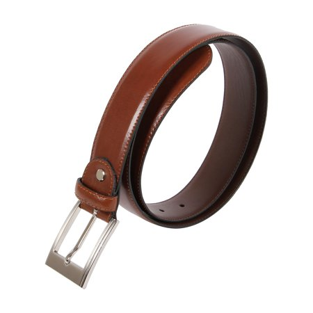 Affilare Men's Genuine Italian Leather Dress Belt  35mm  Black Brown Tan - Brown Italian Leather Belt
