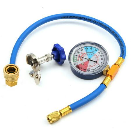 R134A R12 R22 Recharge Measuring Hose Gauge Valve Refrigerant Pipe 250PSI 1/4'' Low Pressure Guage Hose Part Kit