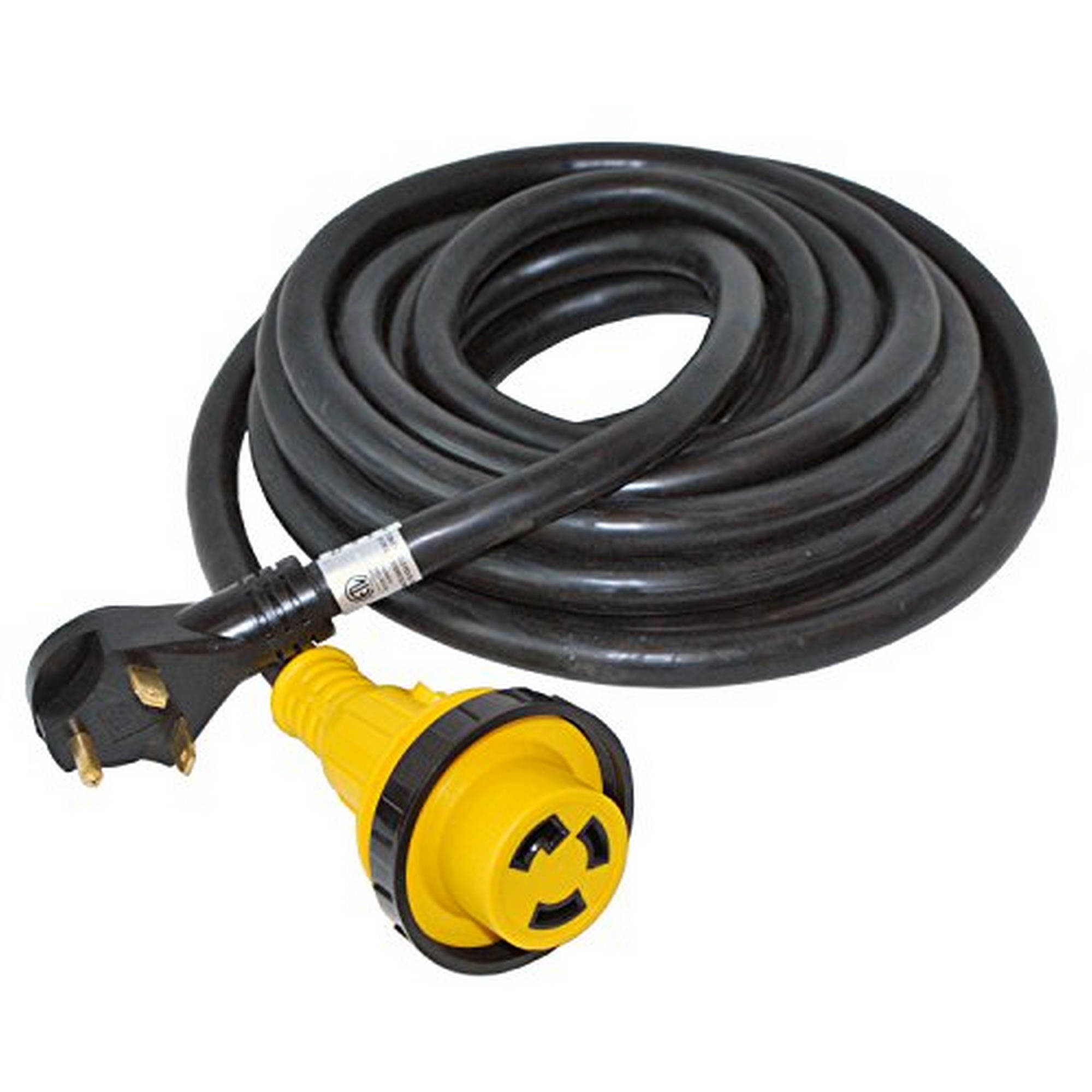 ALEKO RV30-25M 25' 30-Amp 3-Wire RV Cord with Detachable Receptacle Male Plug with Handle