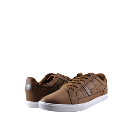 (Lacoste Europa 417 Mens Shoes Textured Lace Up Sneaker 34SPM0044176 Brown)