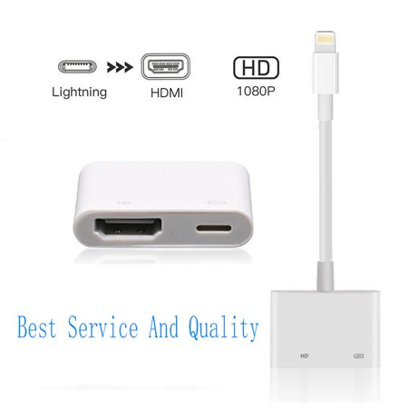 best sneakers 4ef44 47453 Lightning To HDMI 1080P HDTV TV Digital AV Adapter Sync Data Cable For iPad  iPhone X 8 7 6 Plus(Ship from USA Within One Bussiness day)
