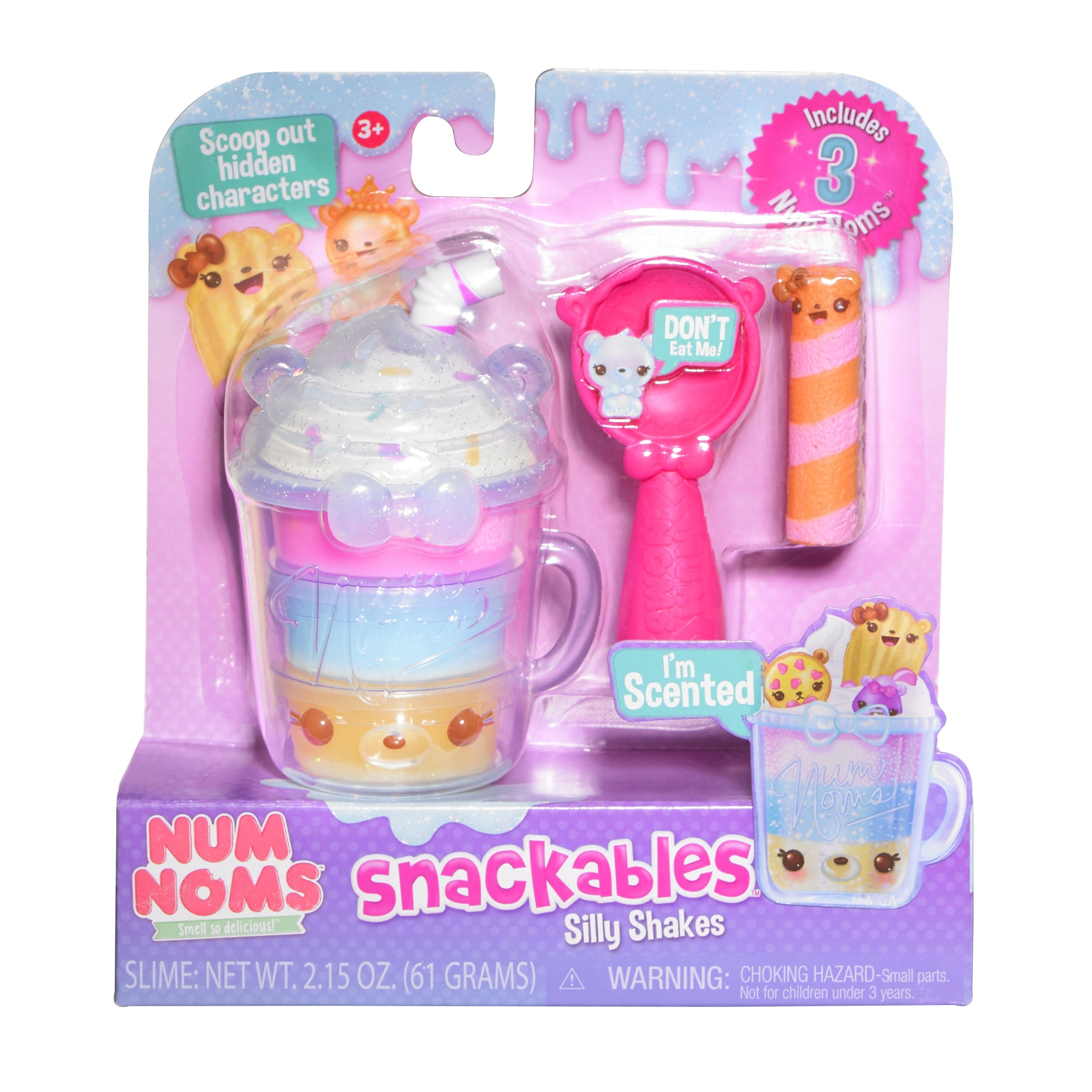 Num noms snackables scented silly shakes - cotton candy