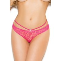 Queen Alluring Affair Open Back Panty Elegant Moments 2481X Candy Pink