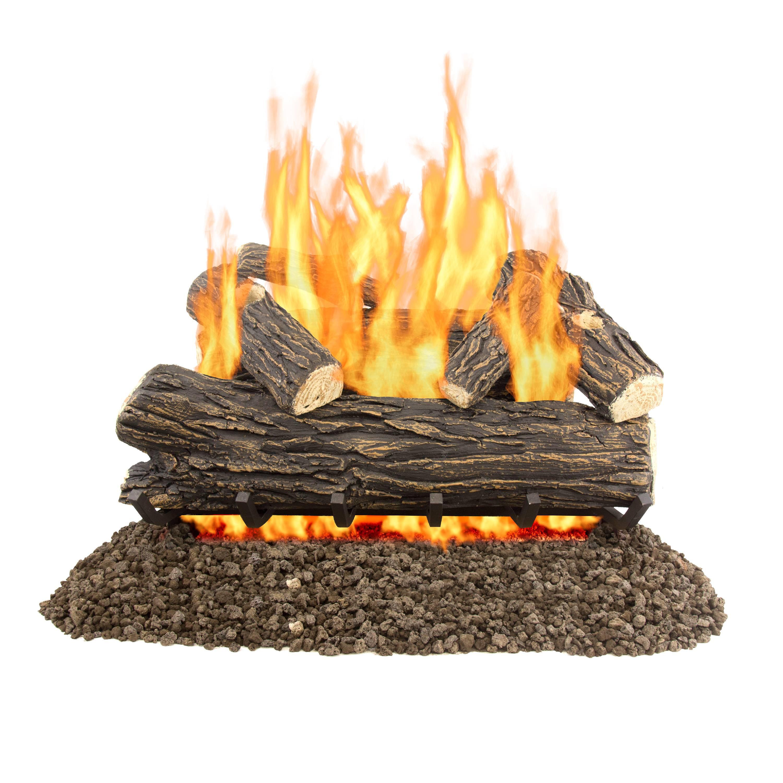 "Pleasant Hearth 30"" Willow Oak Vented Gas Log Set 65,000 BTU's"
