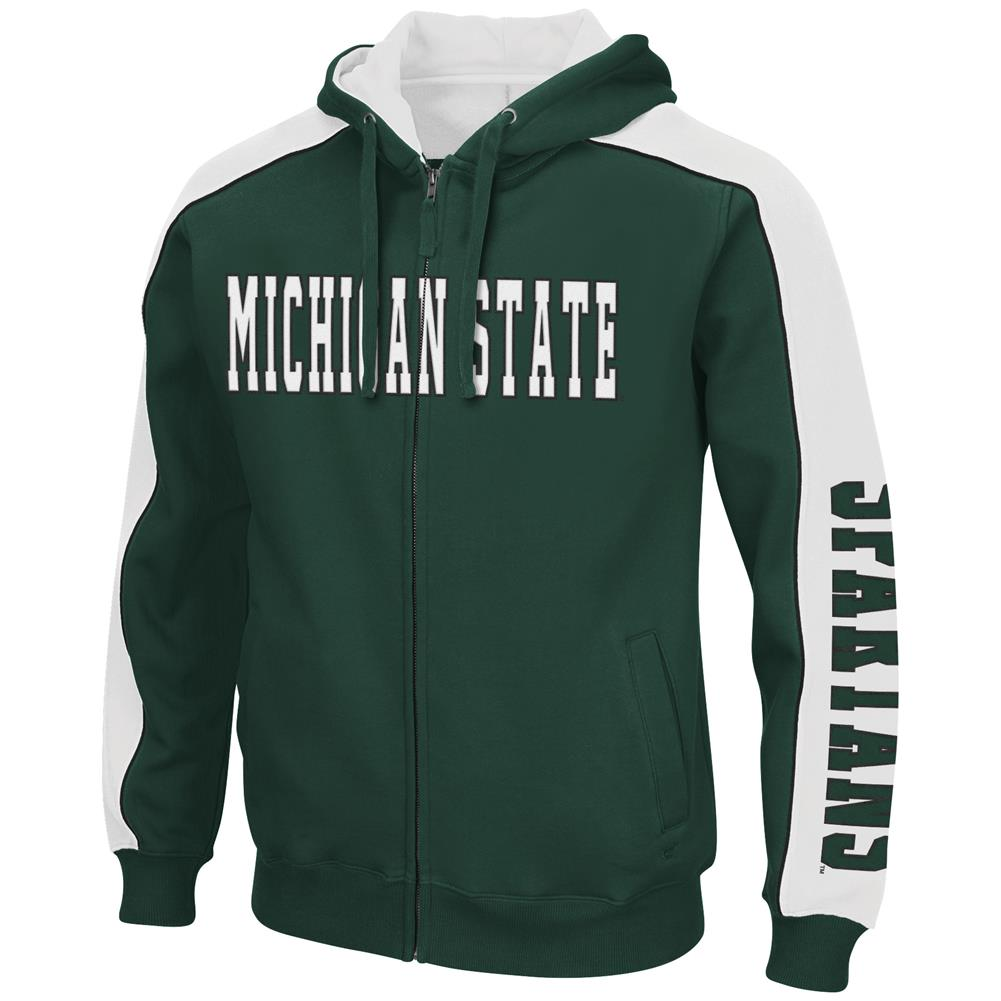 Thriller II Full-Zip Michigan State University Hoodie
