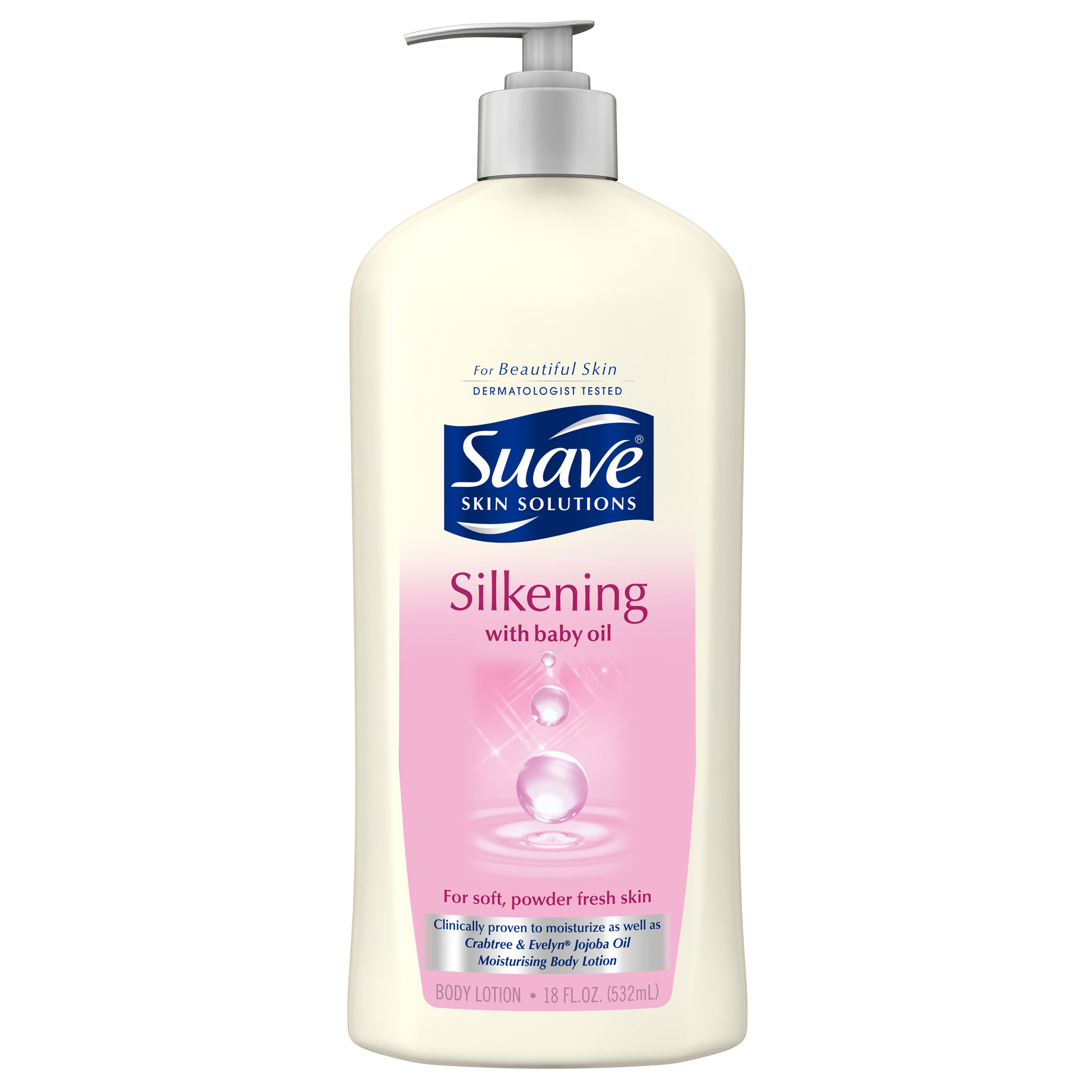 Suave Skin Solutions Silkening with Baby Oil Body Lotion, 18 oz