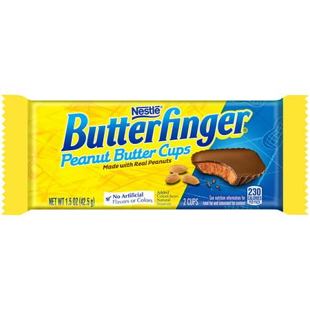 Butterfinger Peanut Butter Cups Chocolate Candy Bar, 1.5oz (Box of 36) - Peanut Butter Finger Cookies Halloween