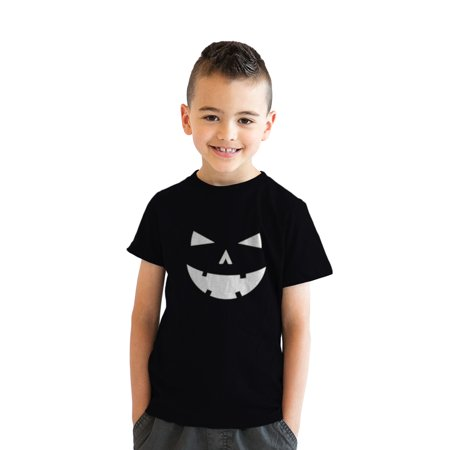Youth Happy Tooth Glowing Pumpkin Face Tshirt Jack O Lantern Halloween - Jack Happy Halloween