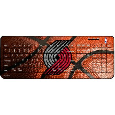 Portland Trail Blazers Basketball Design Wireless USB Keyboard by Keyscaper by
