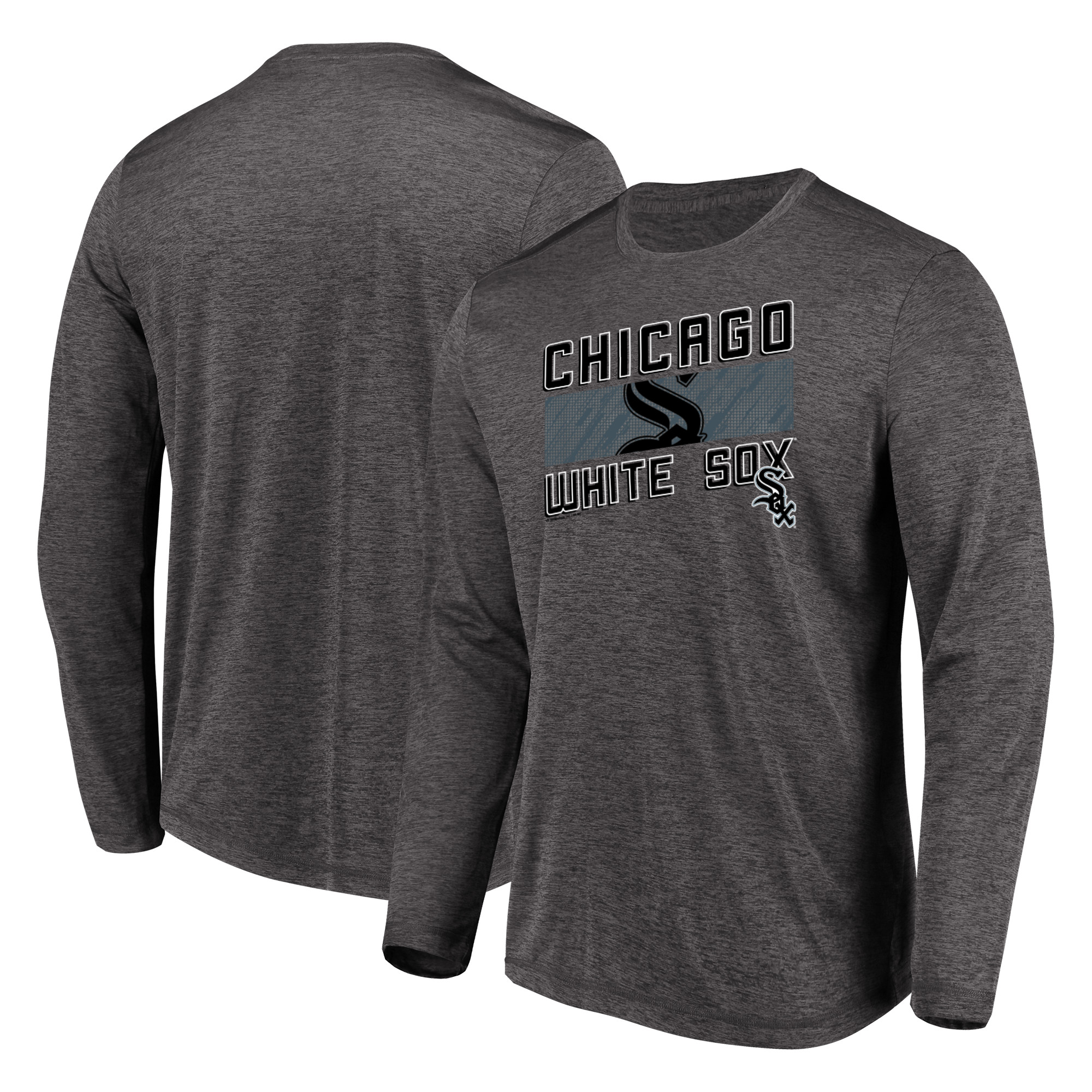 Men's Majestic Heathered Charcoal Chicago White Sox Big & Tall Long Sleeve Team T-Shirt