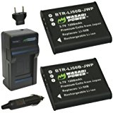 Wasabi Power Battery (2_Pack) and Charger for Casio NP_15...