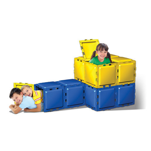 Brik-a-Blok Toys Panel System in Yellow and Blue (Set of 26)
