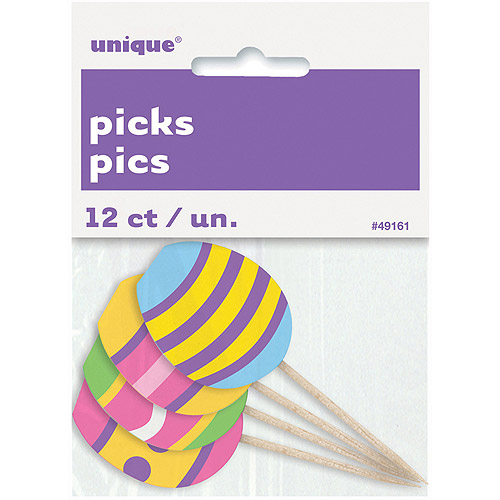 Easter Egg Toothpicks, 8-Count